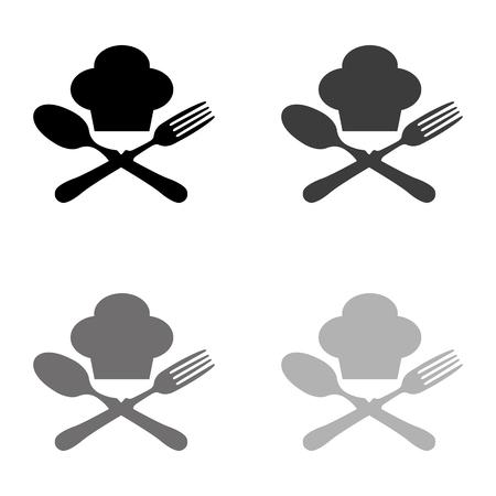 food icon - black vector icon  イラスト・ベクター素材