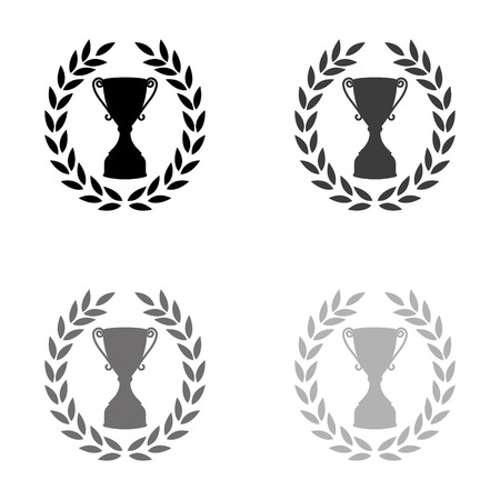 Cup with wreath - black vector icon Ilustração