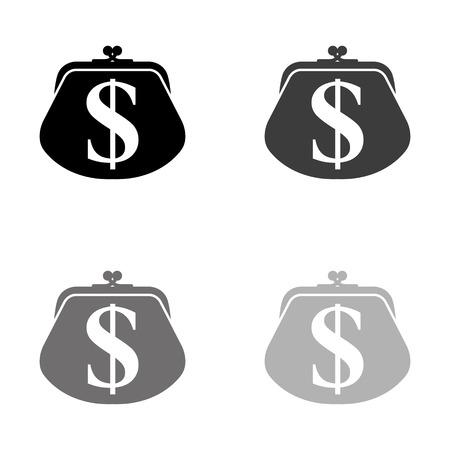 wallet - black vector icon