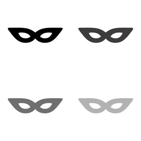 mask - black vector icon