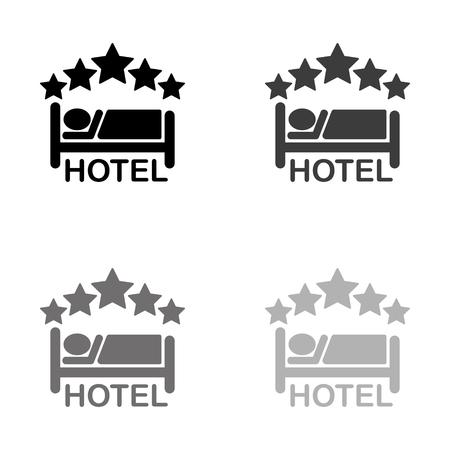 hotel - black vector icon