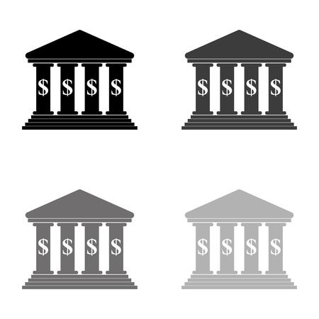 bank - black vector icon