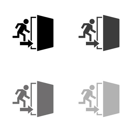 exit - black vector icon Ilustração