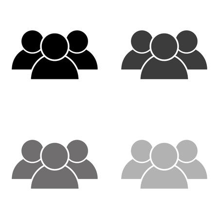 people - black vector icon Ilustração