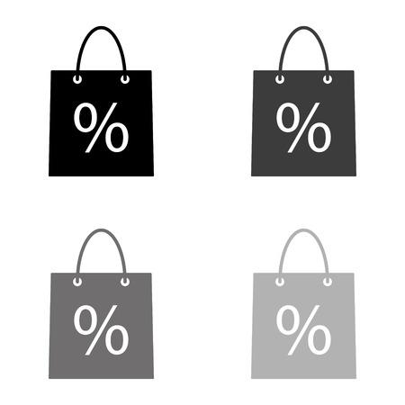 shopping bag - black vector icon