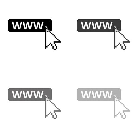www icon - black vector icon