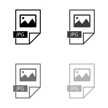 jpg icon - black vector icon Ilustração