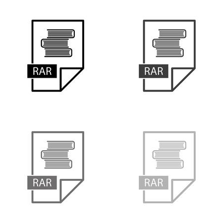 rar icon - black vector icon