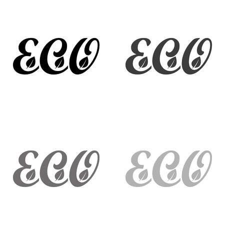 eco - black vector icon
