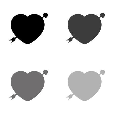 heart - black vector icon