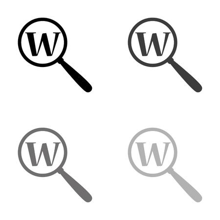Search - black vector icon