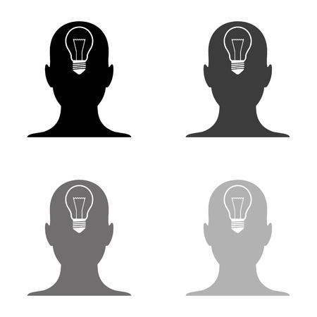 human head - black vector icon Ilustração