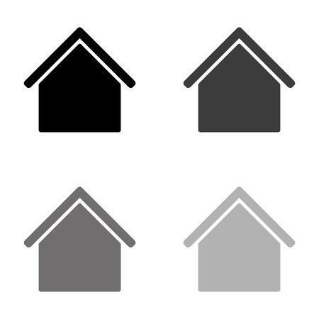 Home - black vector icon