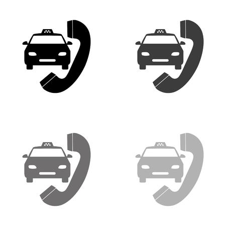 taxi - black vector icon