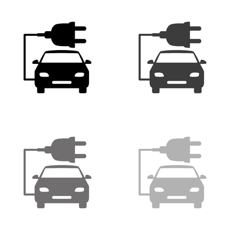 car ecology - black vector icon Ilustração