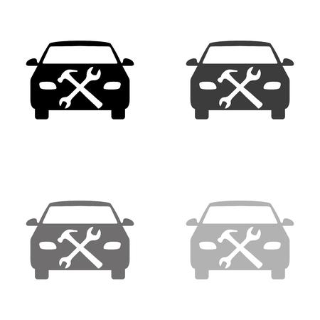 car service - black vector icon