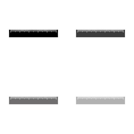 ruler - black vector icon Ilustração