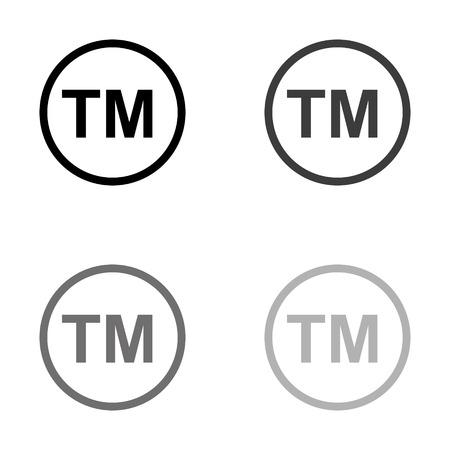 tm - black vector icon Ilustração