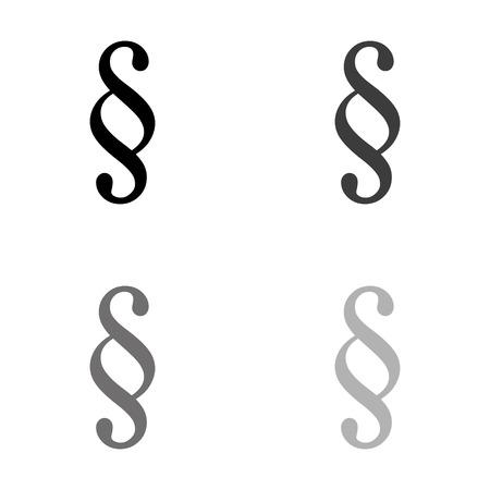 paragraph - black vector icon