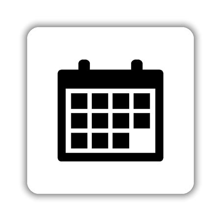 Calendar - black vector icon