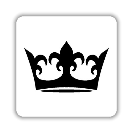 crown - black vector icon Ilustrace