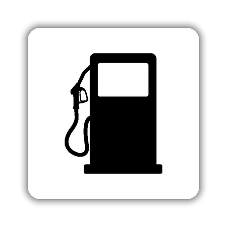 gas station sign - black vector icon Illustration