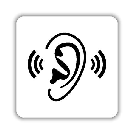 Ear - black vector icon