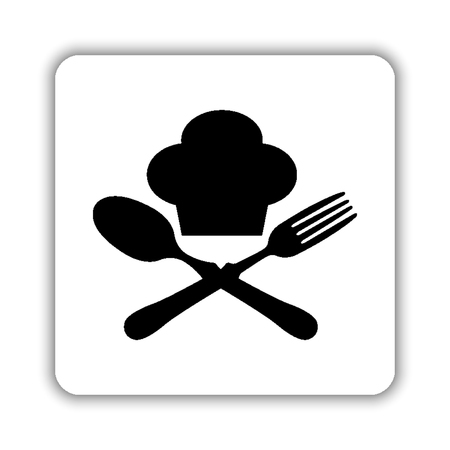 food icon - black vector icon Illustration