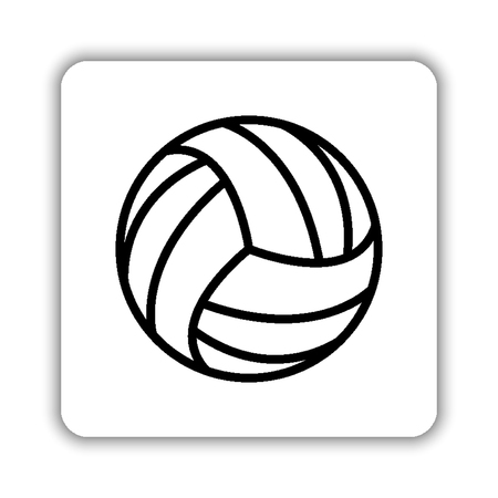 volleyball ball - black vector icon 矢量图像