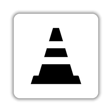 Traffic cone - black vector icon Stock Illustratie