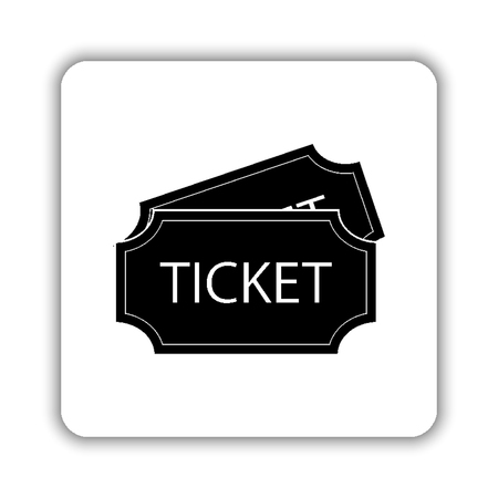 ticket - black vector icon Illustration