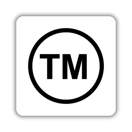 tm - black vector icon Ilustrace