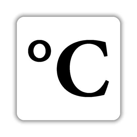 degrees Celsius - black vector icon Illusztráció