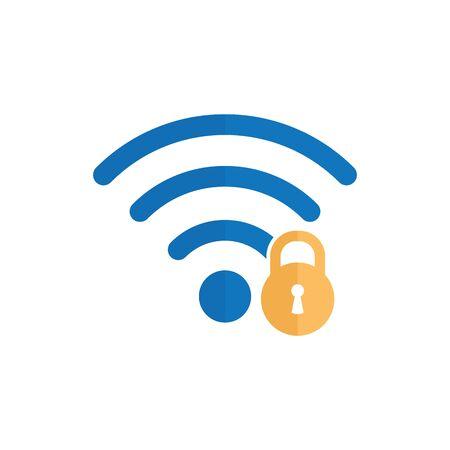wifi icon. wifi locked sign Foto de archivo - 148964717