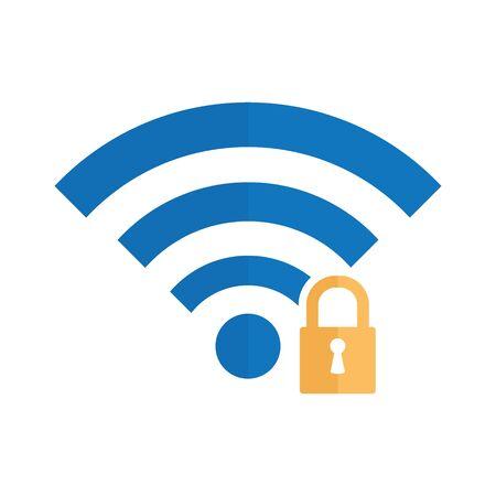 wifi icon. wifi locked sign Foto de archivo - 148964718