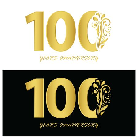 100 years anniversary vector, style for celebration, logo template