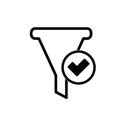 filter icon - black vector sign