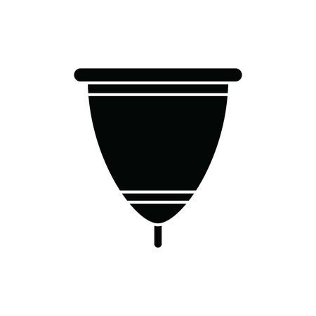 menstrual cup icon. woman vector illustration Иллюстрация