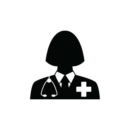 doctor icon. Doctor with stethoscope vector sign