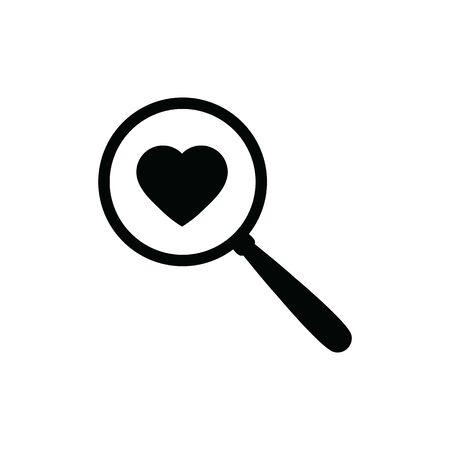 search icon with heart icon Ilustração
