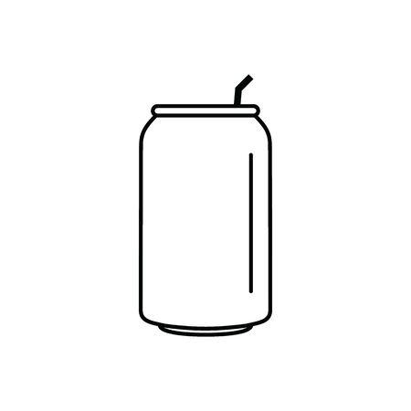 soda can icon black vector Çizim