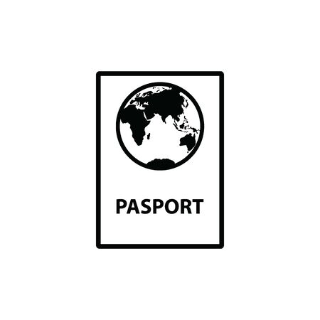 pasport icon black vector. travel icon Vectores