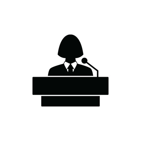 Speaker icon vector orator sign
