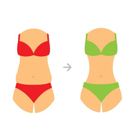 lose weight icon. diet, sport, liposuction, fitness. before and after icon. slim body. fat belly. vegan icon 矢量图像