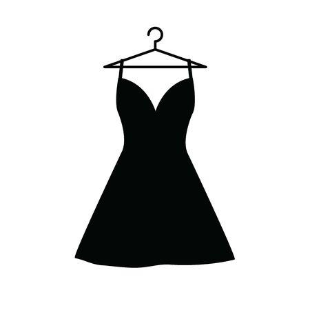 robe sur l'icône de vecteur de cintre. vêtements, icône de vêtements