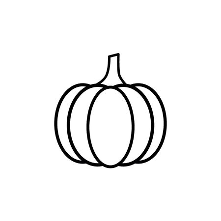 pumpkin icon - black vector Illustration
