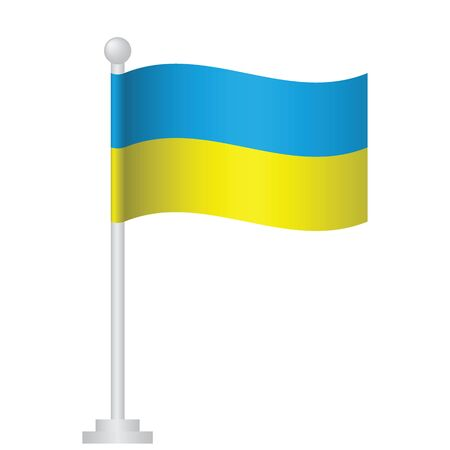 Ukraine  flag. National flag of Ukrainian pole vector