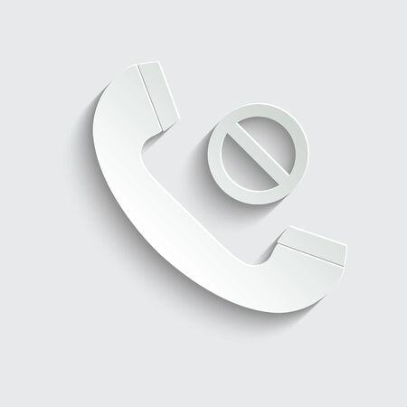 call icon. line style icon.  black vector symbol of  telephone receiver Archivio Fotografico - 149593720
