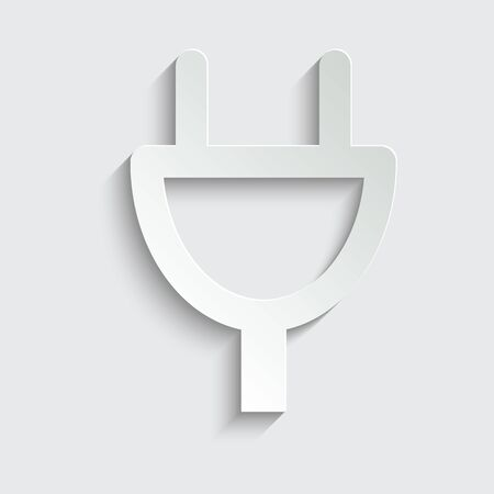 electric plug icon. line style icon          black vector symbol of  plug