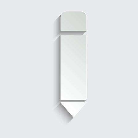 pen icon. pencil icon. black vector symbol of pen or pencil